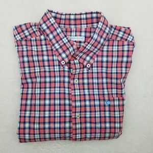 Southern Tide Tailored Fit Plaid Shirt Large